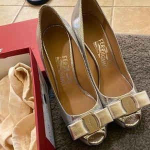 Salvatore Ferragamo Sliver heels